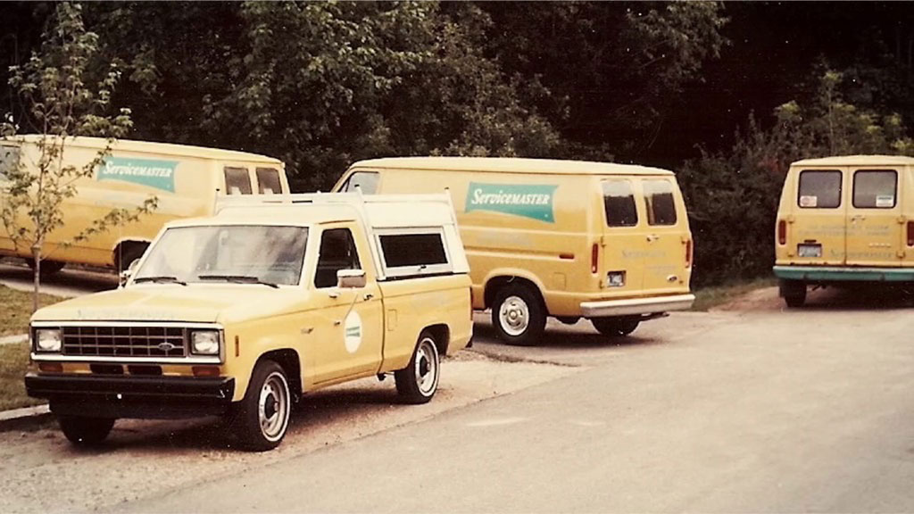 ServiceMaster vehicles Before