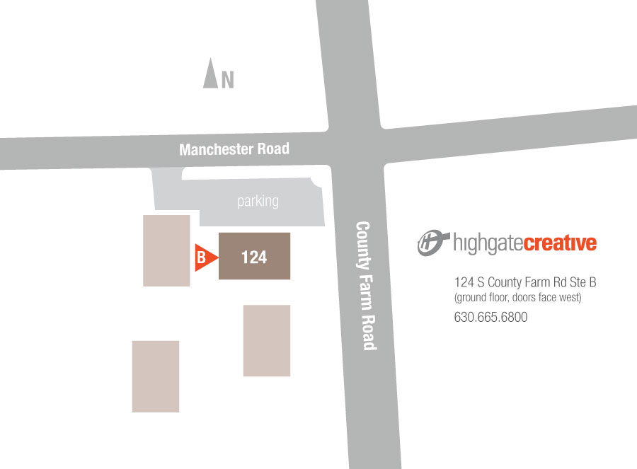 map to Highgate Creative